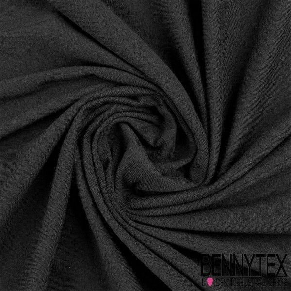 Jersey Coton Peigné Couleur Noir