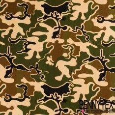 Jersey Viscose Imprime Camouflage