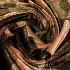 Panne de Velours Velvet imprime Camouflage