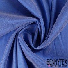 Crêpe Elasthanne Satiné Fluide Couleur Bleu
